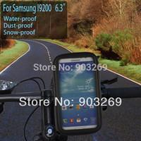 al por mayor 1pc sat-1pc ciclo de la bicicleta del manillar del bolso del sostenedor del montaje del teléfono Naw sentado a prueba de agua (móvil) PARA SAMSUNG I9200 6.3 + envío gratis