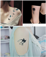 Wholesale Hot Fashion Butterfly Rose Tattoo Sticker Sexy Pattern Waterproof Female Temporary Body Art Stickers