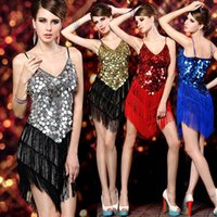 latin dress - Grace Karin Sexy Sequins Short Ladies Night Club Cocktail Party Ballroom Gown Latin Dance Fringe Lxury Dress CL7256