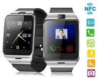 Wholesale Original GV18 NFC Smart Bluetooth Watch For iPhone Android Phone For Samsung Wristwatch Smartwatch With Camera SIM Card Slot
