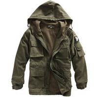 army field jacket xl - Fall Outdoor casual Camouflage field Us army force pilot jacket single trench thermal jacket army combat uniform
