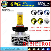 audi euro headlights - 2016 NEW Set H16 Euro CREE W LM LED Headlight XHP50 th Fanless All in One Conversion Kit Single Beam LED Bulb Super Bright