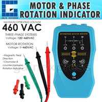 Wholesale E04 Phase Sequence and Motor Rotation Conveyors Pump Magnetic Field Direction Portable Tester Meter Tool VAC