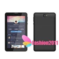 Comercio al por mayor más nuevo de 7 pulgadas de doble núcleo 3G Tablet PC 1024 * 600 de la tableta MTK8312 Teléfono Call 1G 8GB Android 4.4 dual GPS Cámara phablet DHL 002758