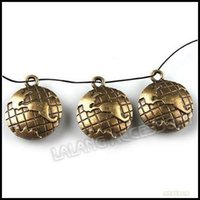 Wholesale New Arrival Vintage Alloy Globe Charms Pendants Antique Bronze x20x4mm