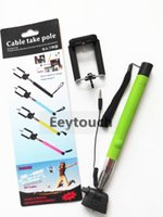 Wholesale Z07 Plus Handheld Monopod z07 Z07 S Extendable Wired Monopod Selfie Stick Tripod Cable Take Pole for IOS Android Free DHL P