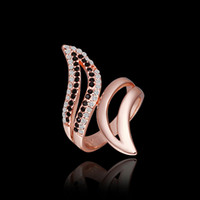 angle bar sizes - FG Size New Arrival K Rose Gold Plated Tin Alloy Angle Wing Ring
