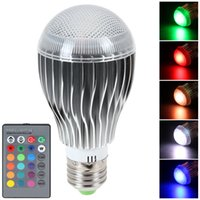 Wholesale 10W E27 LED Color Changing RGB Magic Light Bulb Lamp Power Saving IR Remote Control LED_232