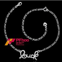 Wholesale European and American silver jewelry hot popular letters Ms anklet SPA017