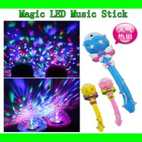 light up wand - Colorful Princess Magic LED Light Up Wand Sticks Projection Music Lights Flashing Baby Girls Favorites