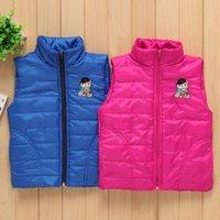 Wholesale Maga Boys and girls vest Maga Stickers Neck Waistcoat Children s vest Cartoon vest Letter ves C t