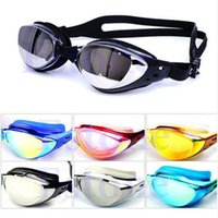 Wholesale Non Fogging Anti UV Swimming Swim Goggle Glasses waterproof Adjustable Eye Protect Adult Color RH6100