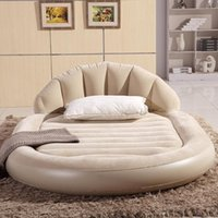 Wholesale Large luxurious round double air bed inflatable mattress inflatable backrest meters wide
