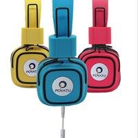 bag isolated - Brand New Headphones Noise Isolating Stereo Folding DJ Studio Headphones Headset With Mic Hifi Headphones Earbuds With Bags