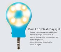 Wholesale Newest Slefie Led flash light RK07 Sync Retina Flash for iPhone S Plus Samsung Gopro Camera Light Source