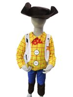 toy story clothing - yellow cowboy years Boy Toy Story Role playing Halloween costumes kid Sherif Woody model clothing