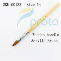acylic tube - Freeshipping Size Acrylic Brush Professional Acylic Sable Nail Brush Wood Handle in Tube SKU G0133X