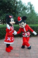 El nuevo vestido de lujo del traje de la mascota del ratón de Mickey Minnie Mouse de la alta calidad que desgasta un traje rojo de la historieta del vestido libera el envío La fábrica directa