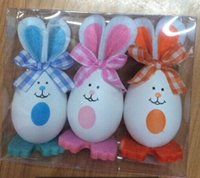 Wholesale Children s Toys Colorful Easter Bunny Easter Egg Holiday Gifts Decoration Lovely Rabbit Easter Eggs sets pack
