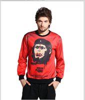 ape suits - Men Women Sweatshirt D Print Hip Hop Jogging Suits Tracksuit Casual Sweatshirt Mixed Color Red Apes