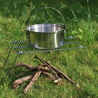 Wholesale Outdoor Cooking Travel Picnic Camping Portable BBQ Folding Iron Grill Light Weight Grills