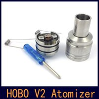 Réservoir en acier inoxydable HOBO V2 RDA RBA Réarmable HOBO Atomizer 510 Fil et eCig Vaporisateur VS Little Boy Big Dripper RDTA Mutation X