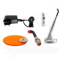 Wholesale 10 Pieces New Dentist Sliver W big power LED Wireless Cordless Curing Light Lamp mw with charging