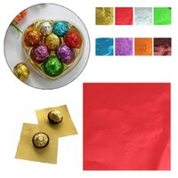 Wholesale new Cute Colorful Sweets Candy Package Foil Paper Chocolate Lolly Foil Wrappers Square design