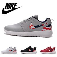 sport flags - Nike ROSHE RUN unisex shoes with US flag lightweight running Shoes Nike Sneakers Sports Trainers For Men Top Quality