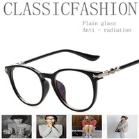 Cheap Exclusive Vintage Plain Glass Men Women Vision Care Anti - radiation Goggles Multi-colors Frame Fashion Computer Eyewear Unisex Classic