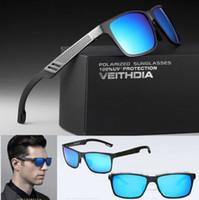 lunettes de soleil pour hommes HD Aluminium Magnésium Hommes Marque Sport Driving Pêche Polarized Lunettes Lunettes Accessoires Lunettes avec le paquet de la PPO