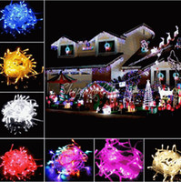 Wholesale 100 LEDS LED String Lights M V V for Clear Wire Christmas decoration X mas holiday lights Party Wedding led twinkle lighting