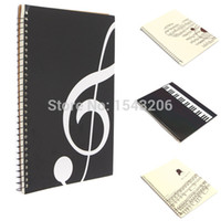 Wholesale 2015 NEW Musical Composition Sheet Manuscript Paper Stave Notation Notebook Pages School Study Supplies order lt no track