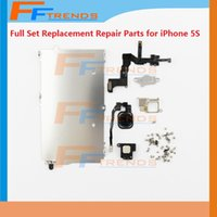 metal bracket - Full Set Repair Parts for iPhone S LCD Touch Screen Digitizer Full Assembly with Black Gold Silver Home Button Metal Bracket