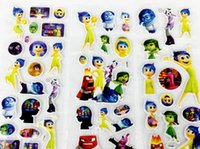 avengers series - CJ series Cartoon Puffy stickers toys Frozen Patrol Dog Inside out the Avengers Minions Sesame street childrens wall stickers home deco