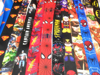 america lanyard - Mixed Spider Man Batman Superman Captain America Lanyard with Lobster Clasp Fit Key ID Mobile Cell Phone Key chain zzsh3201