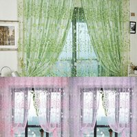 Wholesale Fashion Floral Printed Tulle Voile Door Window Curtain Sheer Drape Panel x100CM BSEL