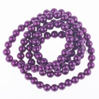 Wholesale 5 Strand mm Noble Purple Loose Beads Chic Beaded Jewelry For Necklace Bracelets DIY BDA8