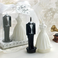 Wholesale 2015 New the Bride and Groom Candle Wedding table centerpiece party Decorations Supplies Wedding Party Favors Novelty Gifts
