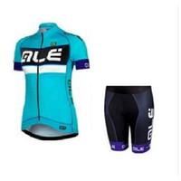 Wholesale Women Cycling Jersey Set Brand ALE Bicycle Wear Bib None Bib Pants Breathable Cycling Clothing Set