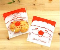 baking christmas gifts - 1000 plastic Christmas gift bag Bake cookies Wedding gift packaging Santa Claus Christmas decoration include bag only