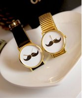 Wholesale Retro Golden Beard Bowknot Peaceful Disc Pointer Watch
