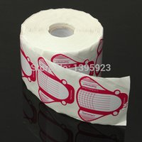 Wholesale Self adhesive Roll Professional Nail art Form Nail Decor Styling Tools Acrylic Tip Extension Sticker