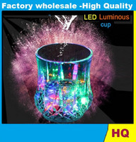 beverage factory - hot Colorful LED Pineapple Cup Flashing Bar Cups Liquid Sensor Luminous Beverage Wine Glass Supply Bar Nightclub Wedding Factory Price
