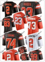 Wholesale New Arrivals manziel haden whitner crowell thomas erving hartline football jerseys Accept mix order