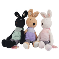 best baby doll dress - 45CM New Rabbit Le Sucre Dolls Bow Dress Bunny Stuffed Plush Toys Best Baby Kids Gifts Good Quality Special Offer NT024B