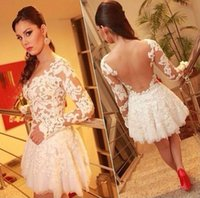 ali express - Hot Sale Ali Express Hot Sale Party Queen Perspective Long Sleeve Lace Woman Dress White