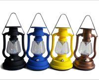 camping light - 7 LED Solar Cells Panel Lantern Light Outdoor Hand Crank Portable Lamps Outdoor Lighting Hiking Lamps Camping Lamps Emergency Light