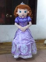 Cheap Hot Selling EVA Adult Size Sofia the first princess Mascot Costume sofia the first Cartoon Character Costumes Birthday Party Dress