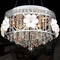 Wholesale Creative Fashion LED Crystal Chandelier Modern Minimalist Restaurant Living Room Round Flowers Lighting